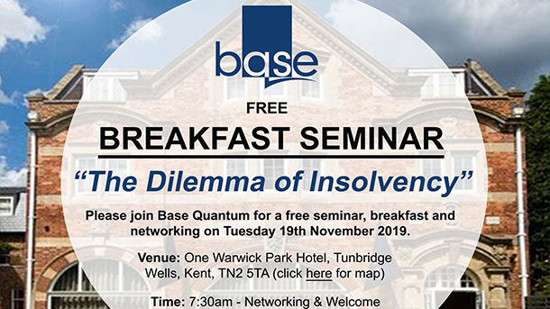 "BREAKFAST SEMINAR ""The Dilemma of Insolvency"""