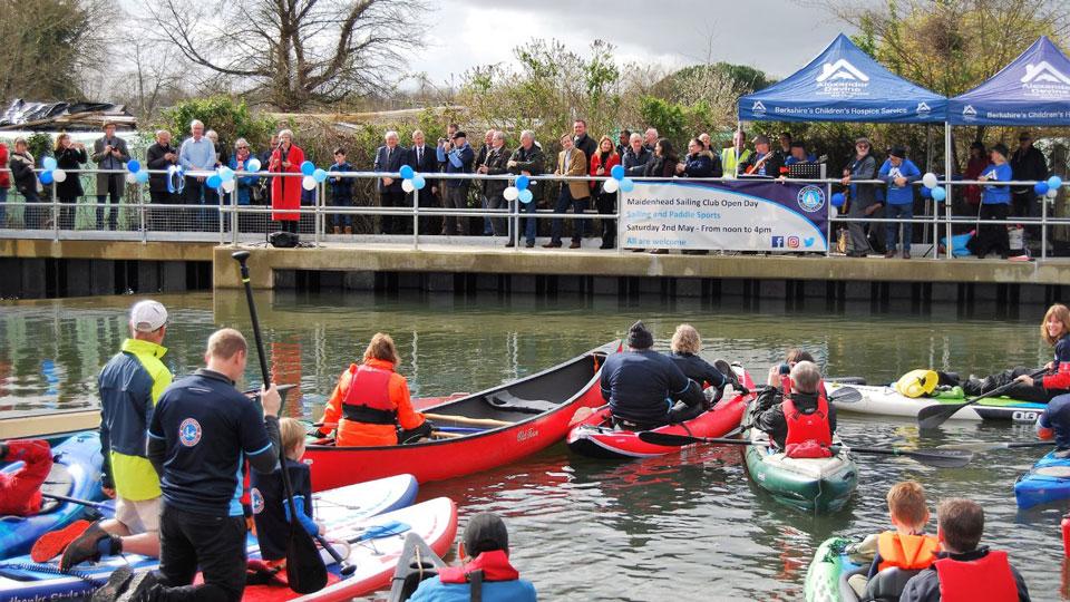 Base attend Maidenhead Waterways grand opening
