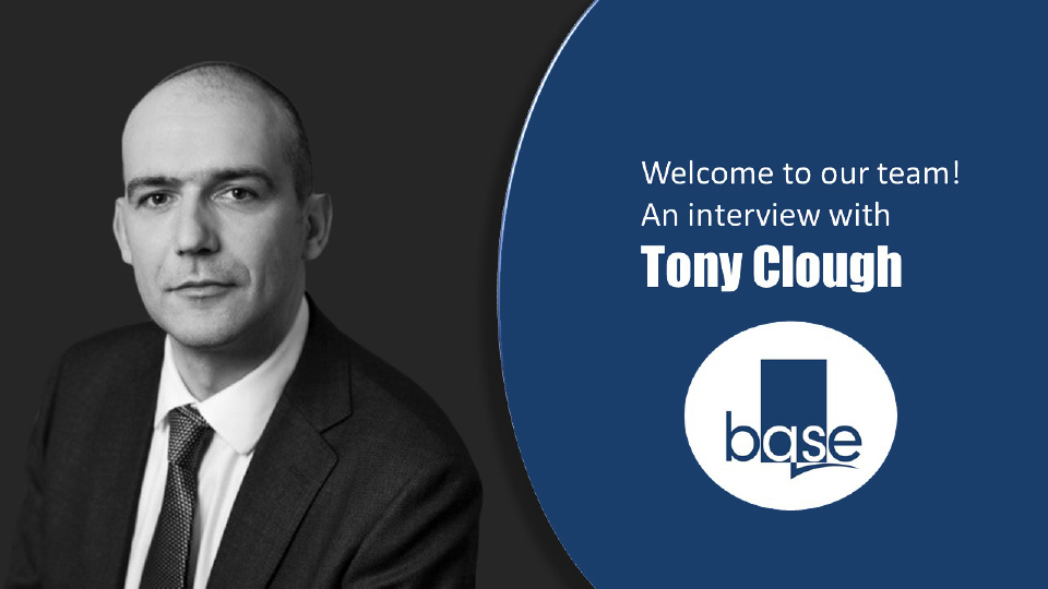 Welcome to our team! An interview with Tony Clough
