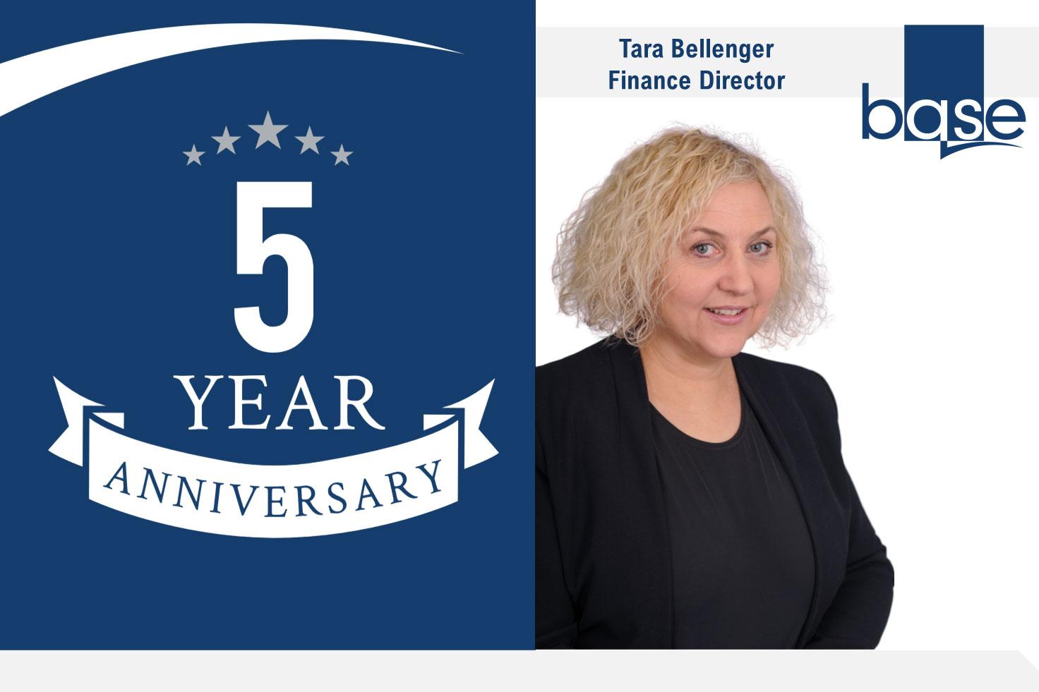 Tara Bellenger celebrates 5 years at Base