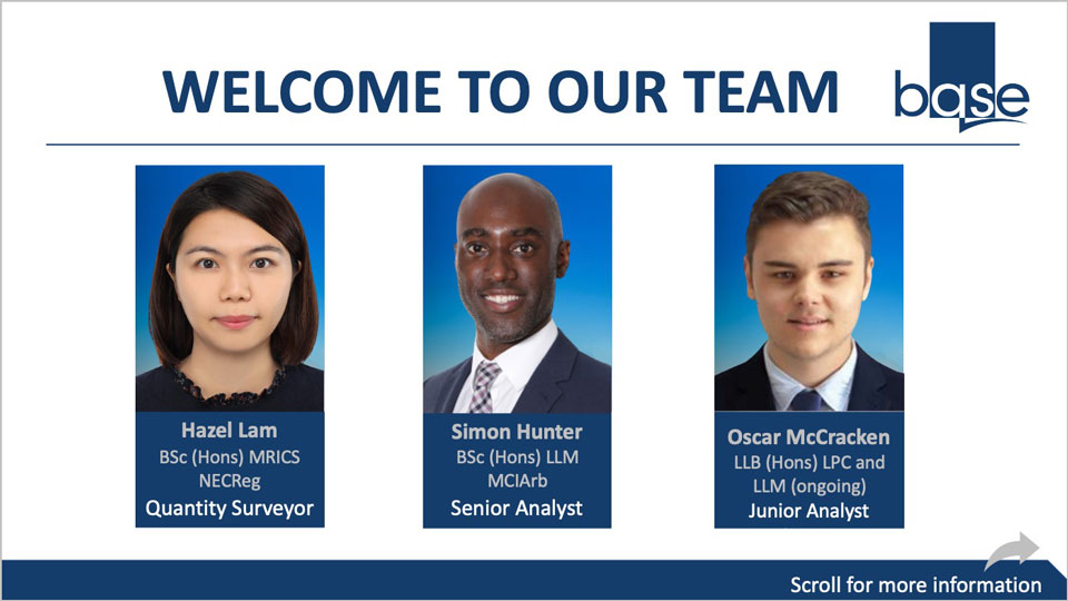 Base welcomes Hazel Lam, Simon Hunter and Oscar McCracken