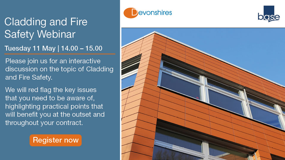 Cladding and Fire Safety Webinar – Tue 11 May, 14:00-15:00