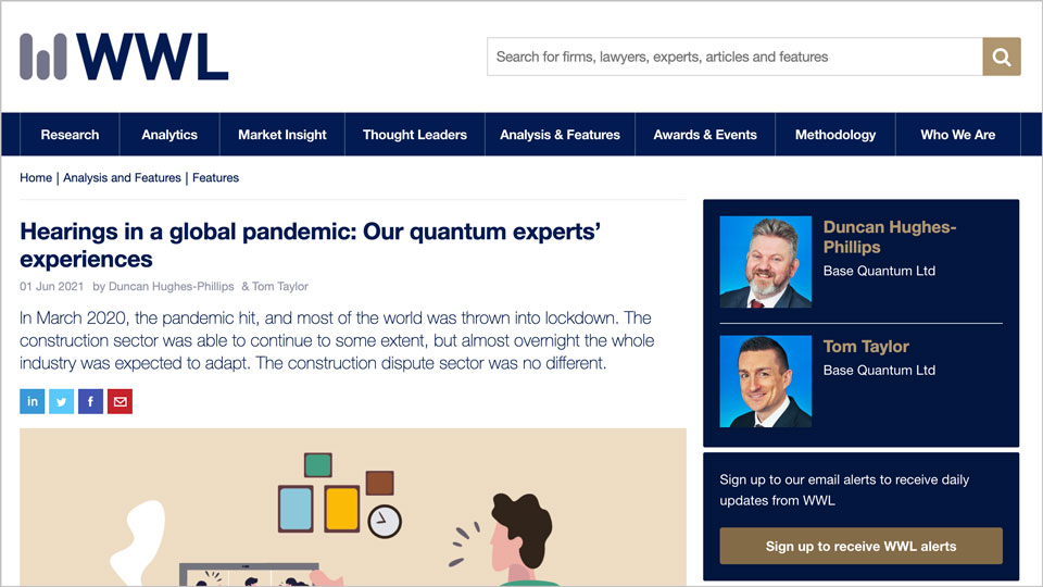 Hearings in a global pandemic: Our quantum experts' experiences