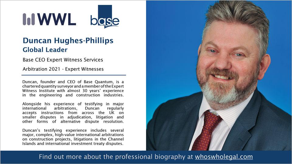 Arbitration Expert Witness Global Leader