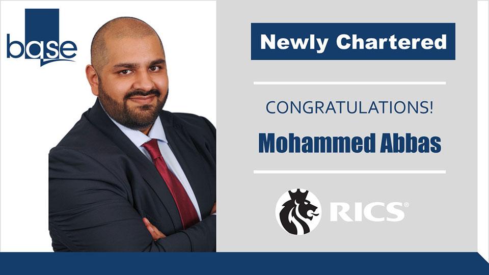 Mohammed achieves RICS Chartership
