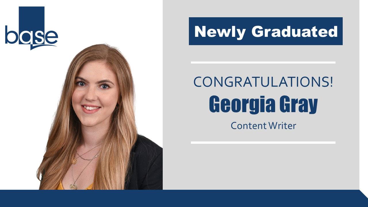 Congratulations to new graduate Georgia Gray