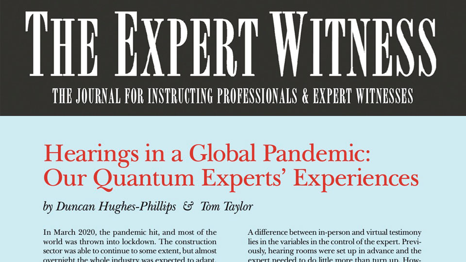 Base featured in 'The Expert Witness'