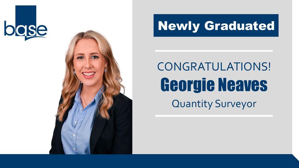 Georgie Neaves achieves BSc (Hons) Quantity Surveying