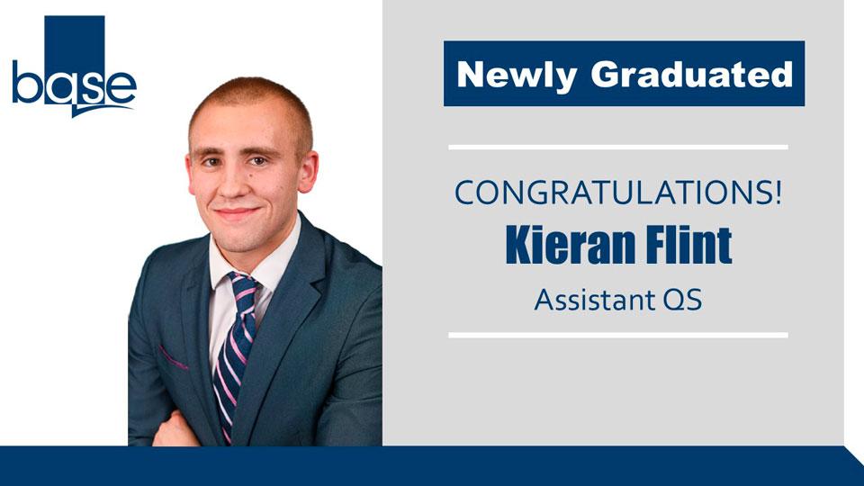 Kieran Flint achieves BSc (Hons) Quantity Surveying